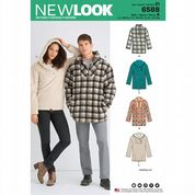 6588 New Look Pattern: Men's and Misses' Fleece Pullovers